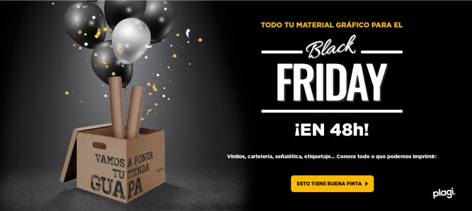 Tu decoración para el Black Friday en 48 horas