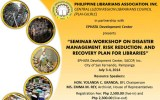 "PLAI-CeLRLC 3rd Regional Conference: ""Disaster Management, Risk Reduction and Recovery Plan for Libraries"