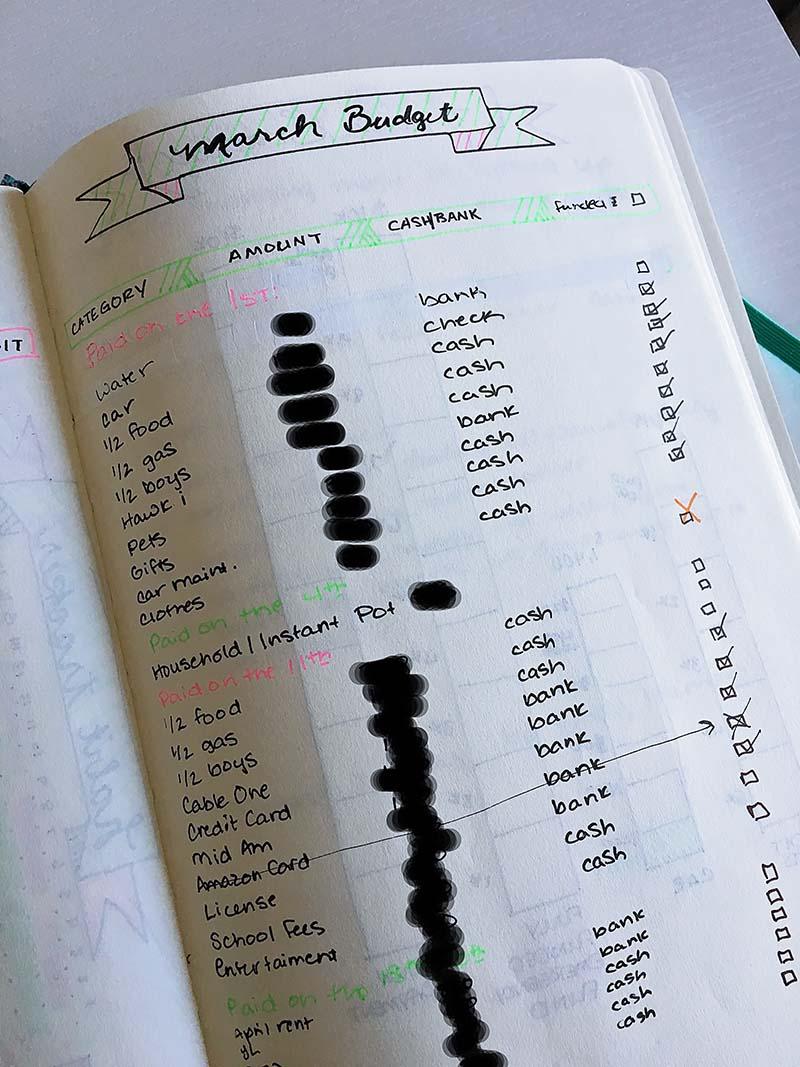 Snowball Debt Tracker Bullet Journal