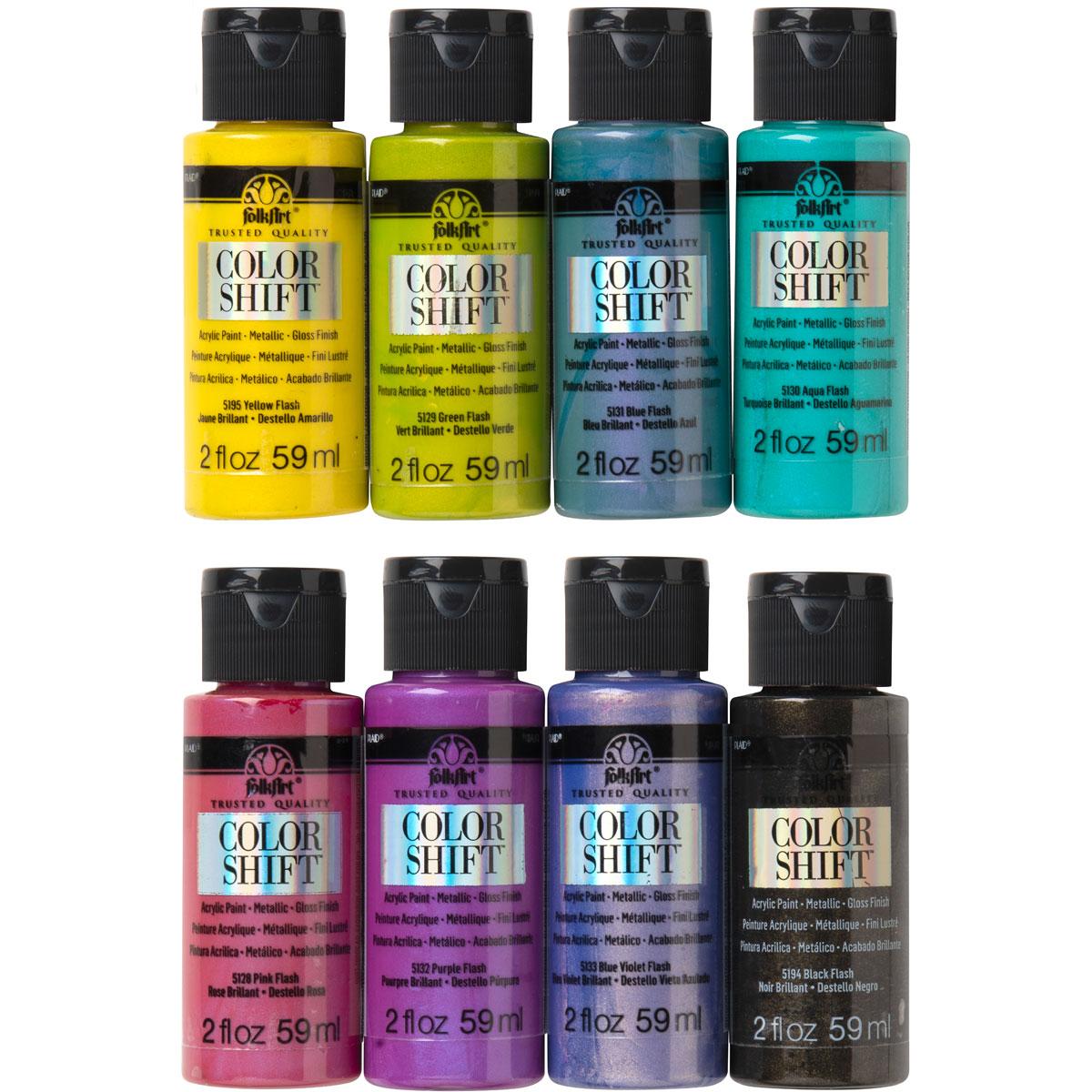 shop plaid folkart color shift acrylic paint set 8 on paint colors online id=20120