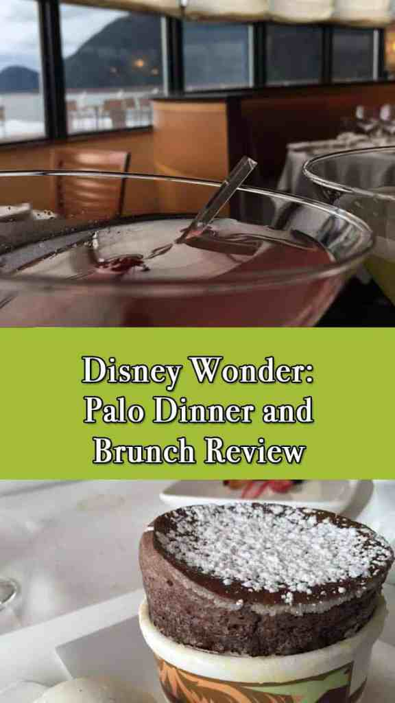 Thinking about booking a reservation on Disney Cruise Line's Palo? This review gives examples of my experience of both Brunch and Dinner at Palo.
