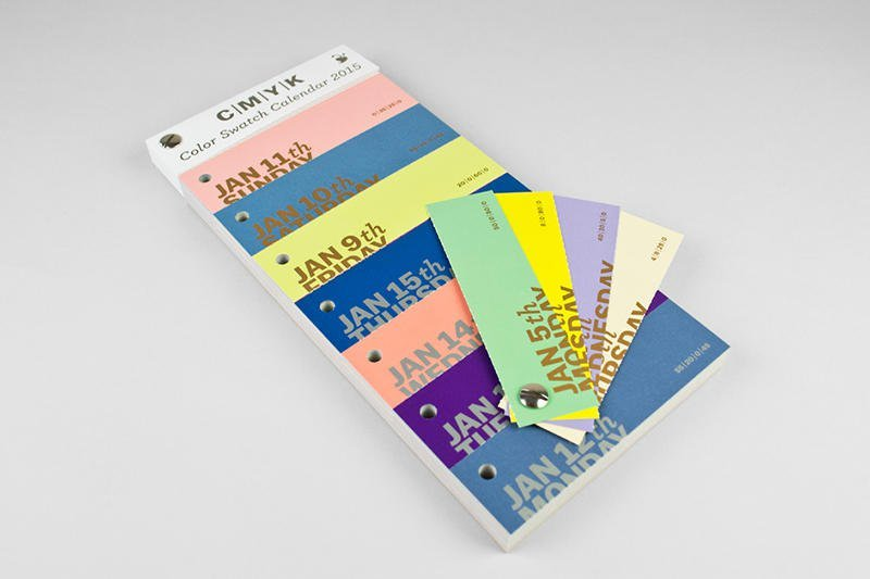 Each day is a different color with this color swatch calendar guaranteed to bring joy to graphic designers worldwide with its dual function of calendar and