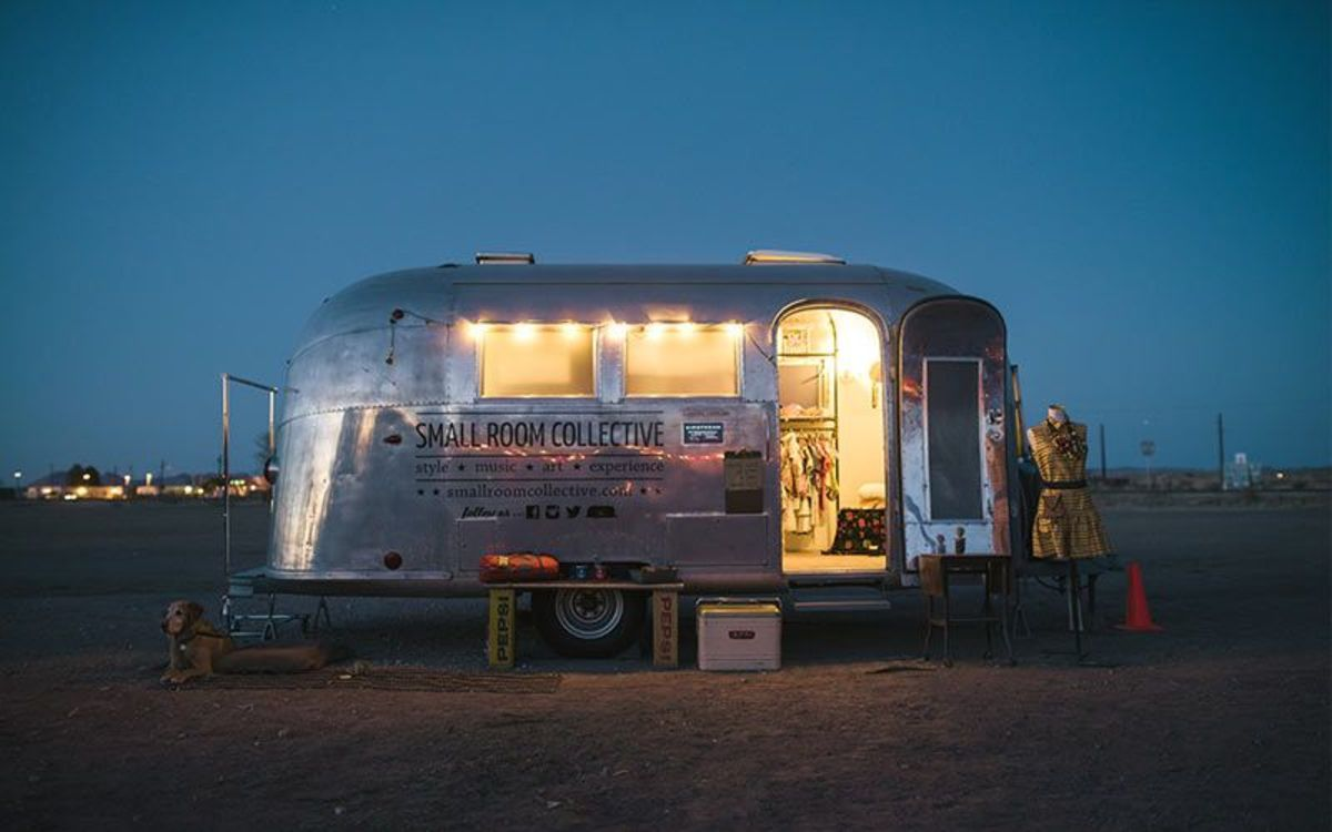This gallery/shop on wheels travels all over the US