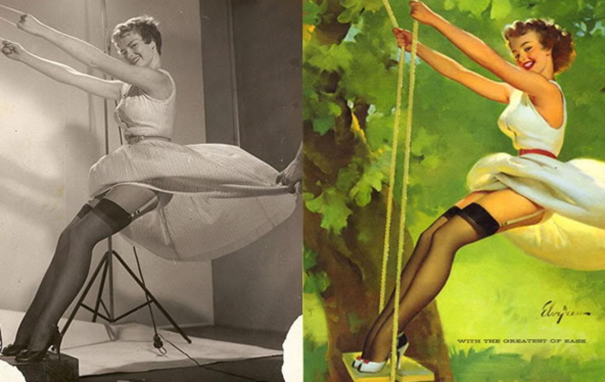 the real inspiration behind the 1950s pin up poster girls plain magazine. Black Bedroom Furniture Sets. Home Design Ideas