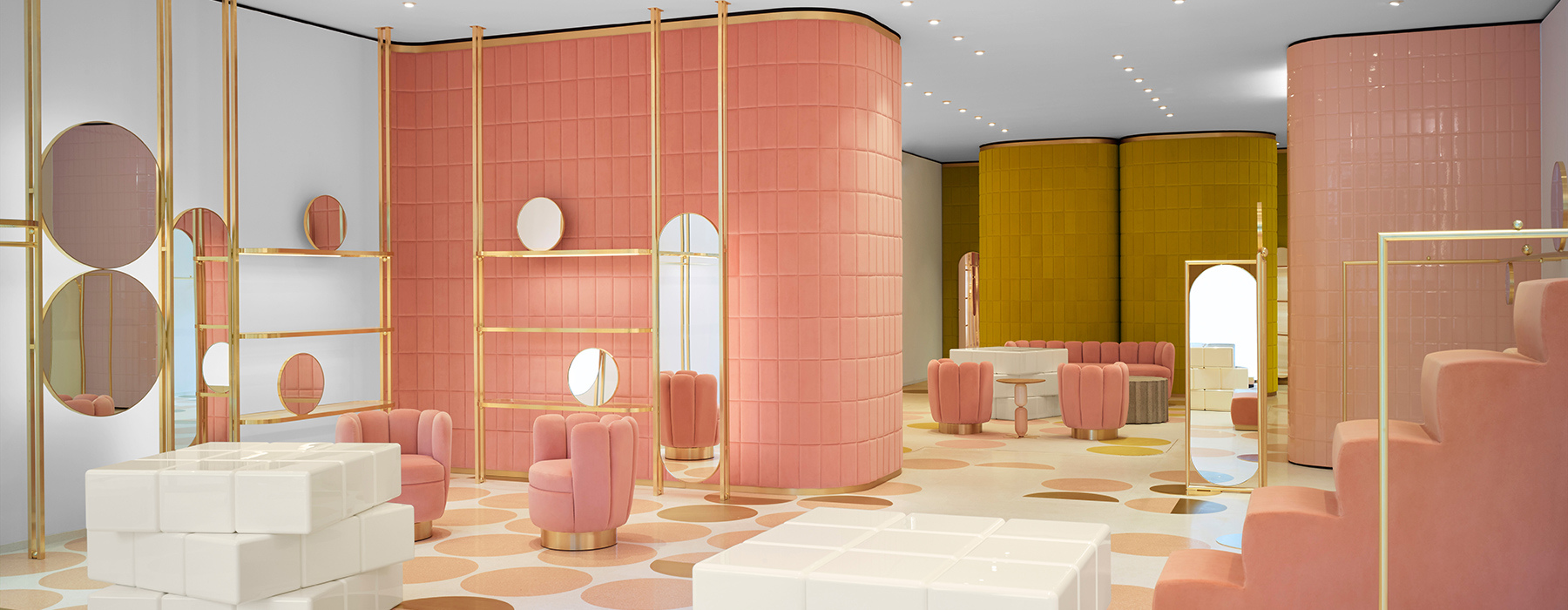 india mahdavi s interior design is pastel velveteen perfection