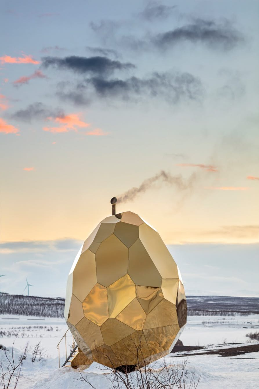 Solar Egg Bigert & Bergström Architecture Sauna