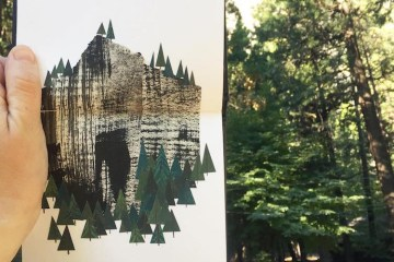 Clover Robin Collage Road Trip Art