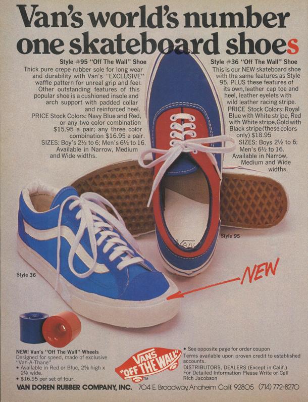 vans shoes style list