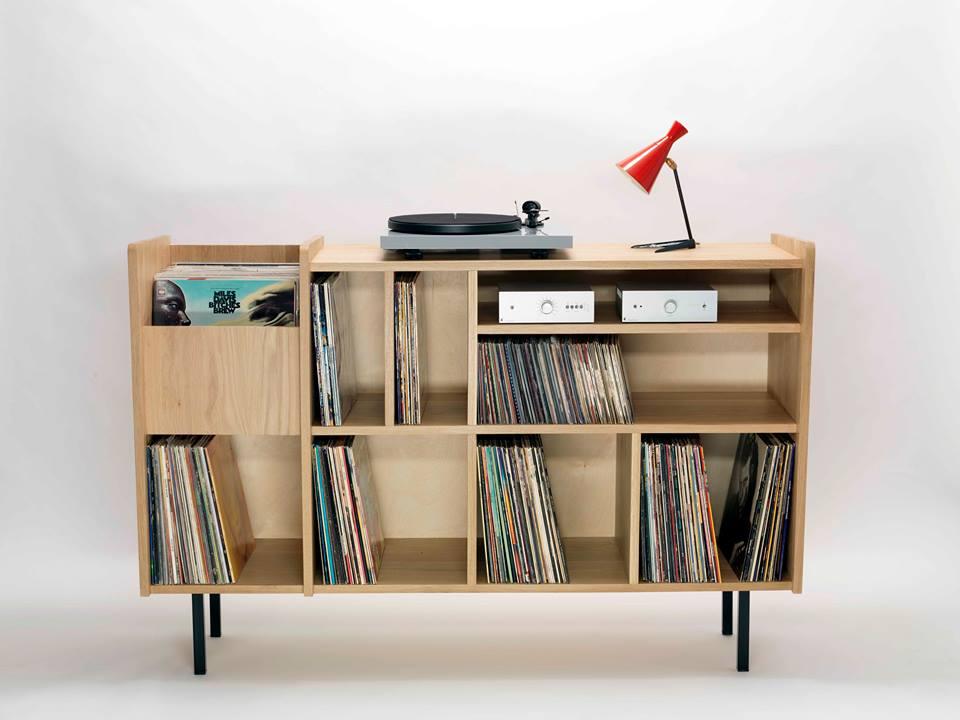 Vinyl Storage Cabinet Design