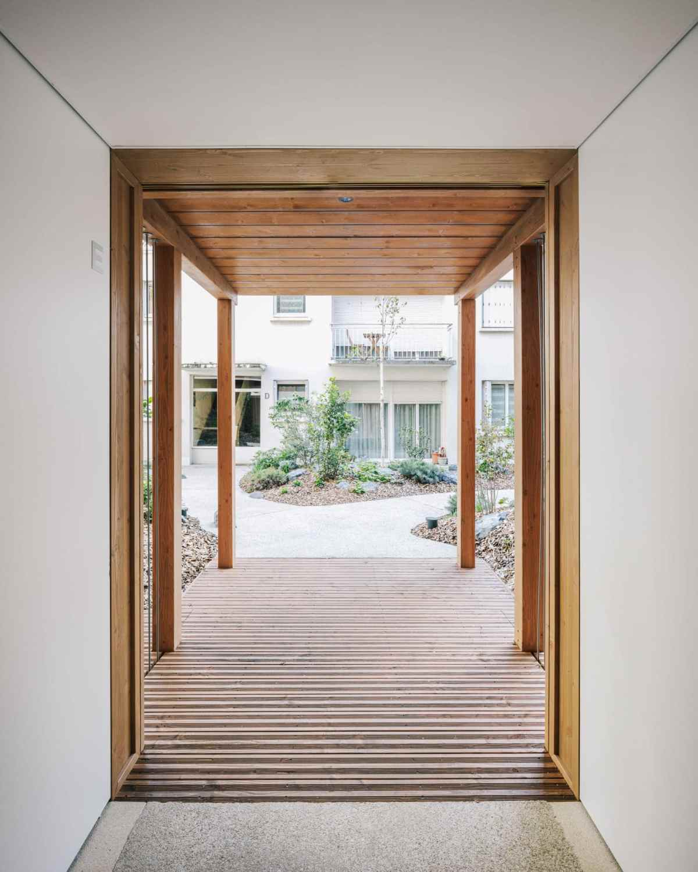 Mars Architecte Wooden Apartment Building Paris