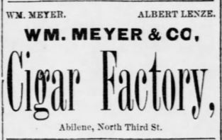W. M. Meyer and Company ad 6-4-1885