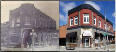 Farmers National Bank Building then and now