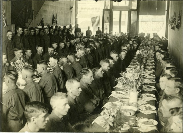 Co. H Abilene Mess Hall on Hodge Block between 2nd & 3rd St in 1917