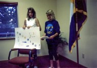 Daughters Giving 4-H Presentation