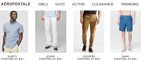Aeropostale : Similar To Forever 21 for Guys and Girls