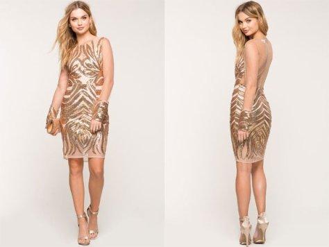 Agaci Nudist Sequin Dress