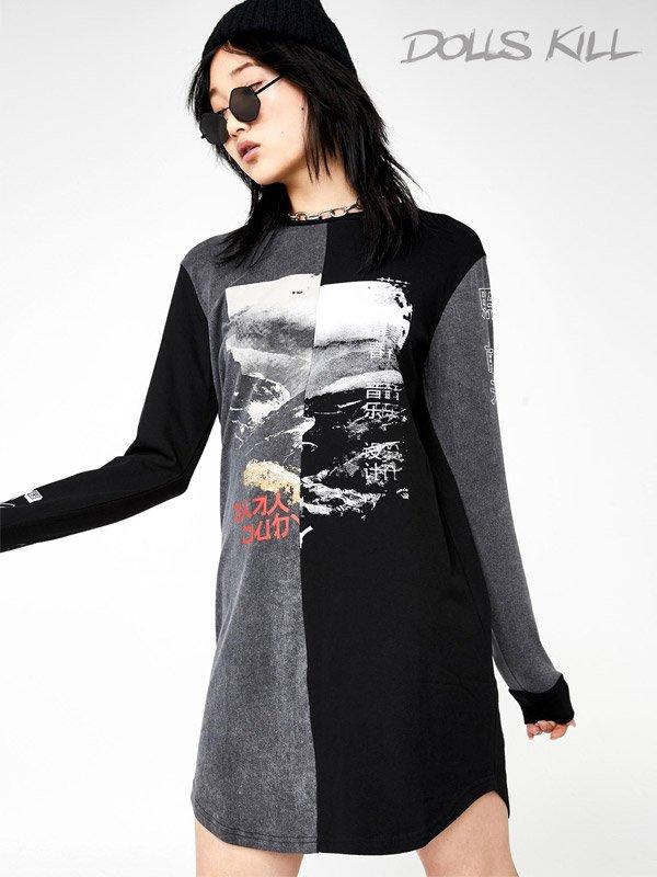 Dolls Kill Black T-Shirt Dresses