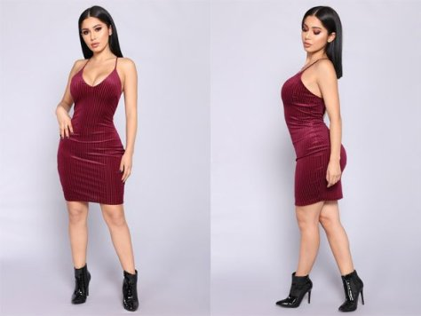 Fashion Nova Esmay Velvet Dress – Wine