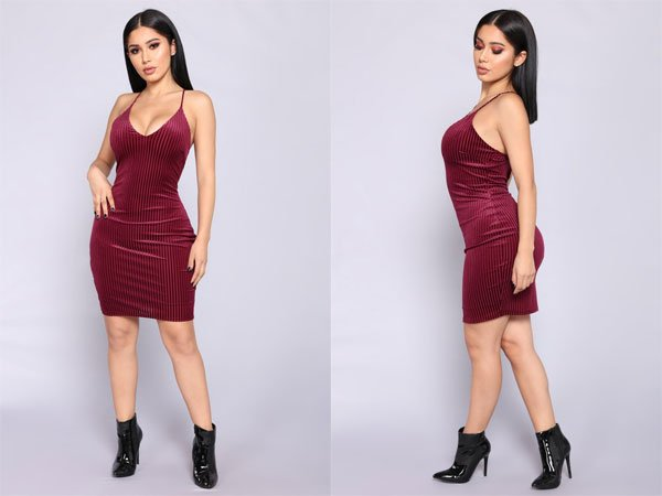 Fashion Nova Esmay Velvet Dress – Wine