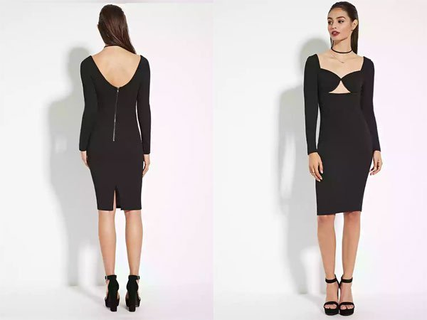 Forever 21 Cutout Bodycon Dress