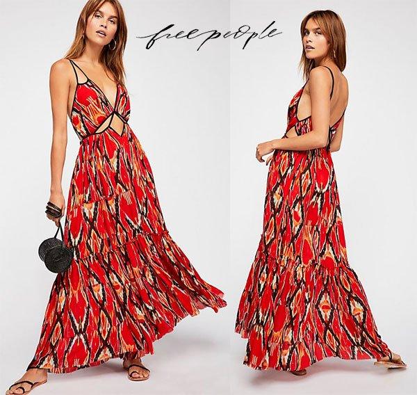 Free People One Bird Of Paradise Maxi Dress