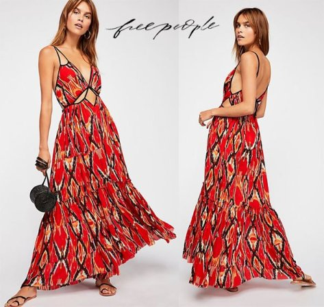 Free People One Bird Of Paradise Maxi Dress