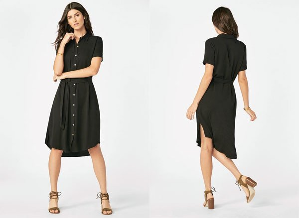 JustFab Belted Shirt Dress