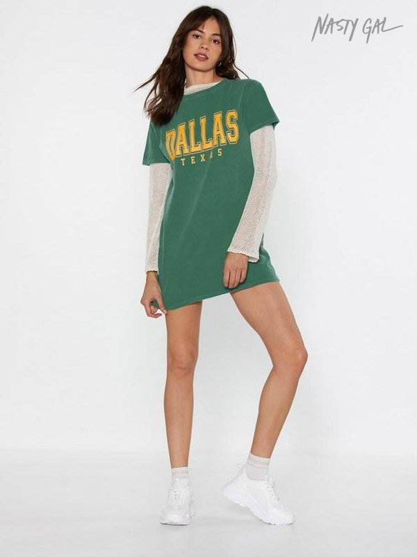 Nasty Gal Down in Dallas Graphic Tee Dress