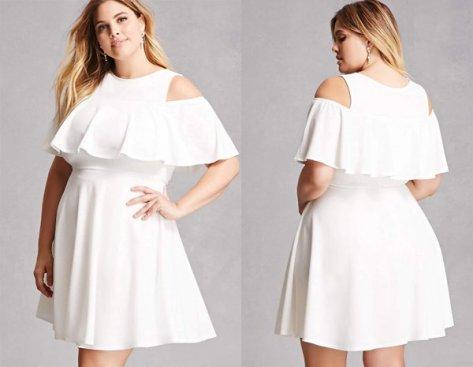 Open Shoulder, Plus Size White Mini Dresses At Forever 21