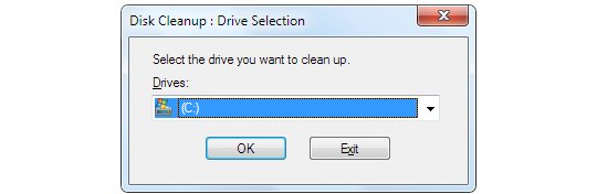 Choose A Disk Drive to Initiate the Cleanup Process