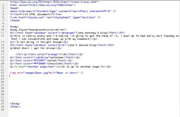 Written work HTML and CSS analysis and coding | Plainyjane ...