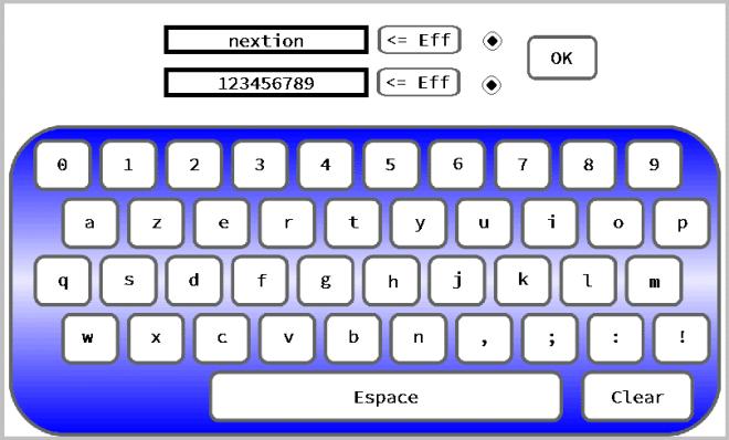 Aperçu de l'écran tactile NEXTION stylisé.