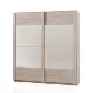 SNANI Chêne Pavia Garderobe 2 portes coulissantes 200 cm