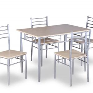 Set table Amelia SonomaH 76-86 x L 120-43 x P 70-41 cmStructure métal