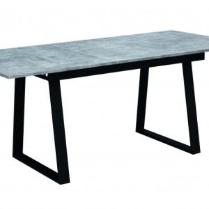 Table Vienna Extensible 140/180x90 BétonH 75 x L 140/180 x P 90 cmPieds métal