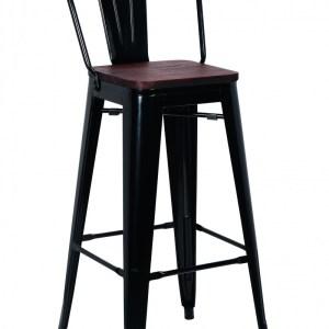 Tabouret de bar Oscar Acier Noir (H-siège 75cm)H 106 x L 47 x P 43 cm