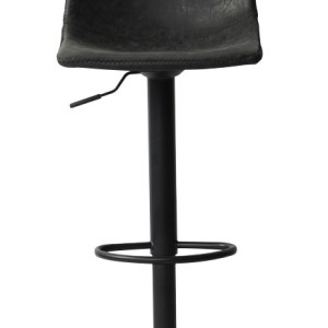 Tabouret de bar Trevi PU NoirH 88-109 x L 41 x P 47- H seat: 61-83cmPieds métal