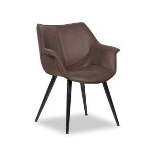 Chaise Milan BrunH 81 x L 70 x P 64 cmPieds métal