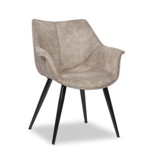 Chaise Milan GrisH 81 x L 70 x P 64 cmPieds métal