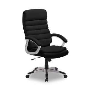Chaise de bureau Kennedy PU NoirH 115/125 x L 67 x P 72 cmPieds métal et plastic