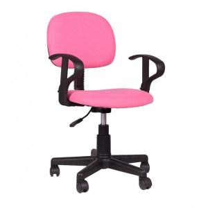 Chaise de bureau Happy PU nylon PinkH 80/88 x L 51 x P 39 cmPieds métal et plastic