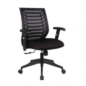 Chaise de bureau Diego PU nylon NoirH 91/101 x L 63 x P 48Pieds métal et plastic