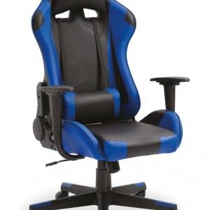 Chaise de jeubureau Eric Bleu foncé/noirH 127 x L -W 53 x P 49 cmPieds métal et plastic