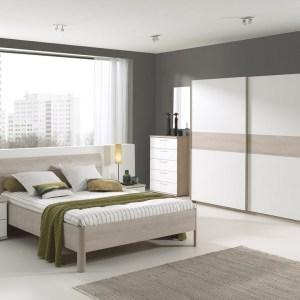 DELIA Chambre à Coucher (lit + garde robe + chevets)