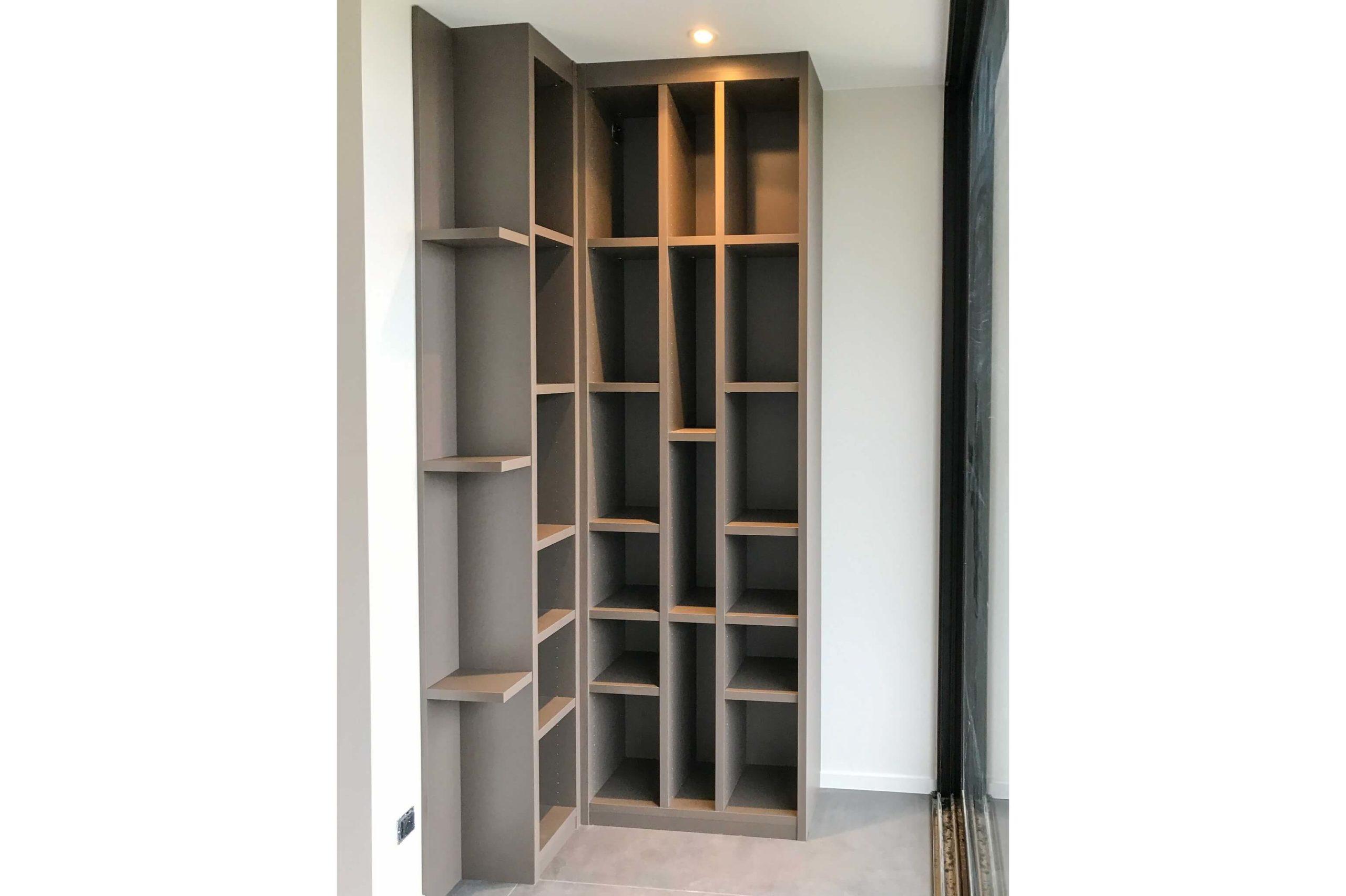 meuble bibliotheque d angle sur mesure