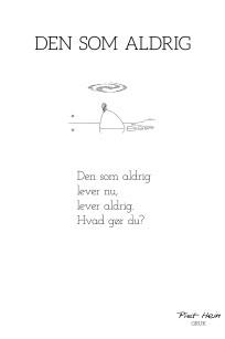 Piet Hein - Gruk - Den som aldrig