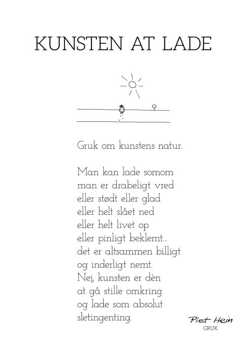 Piet Hein - Gruk - Kunsten at lade