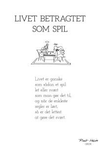 Piet Hein - Gruk - Livet betragtet som spil