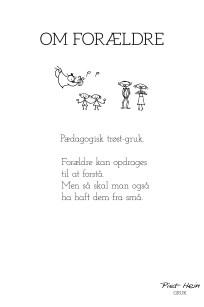 Piet Hein - Gruk - Om forældre