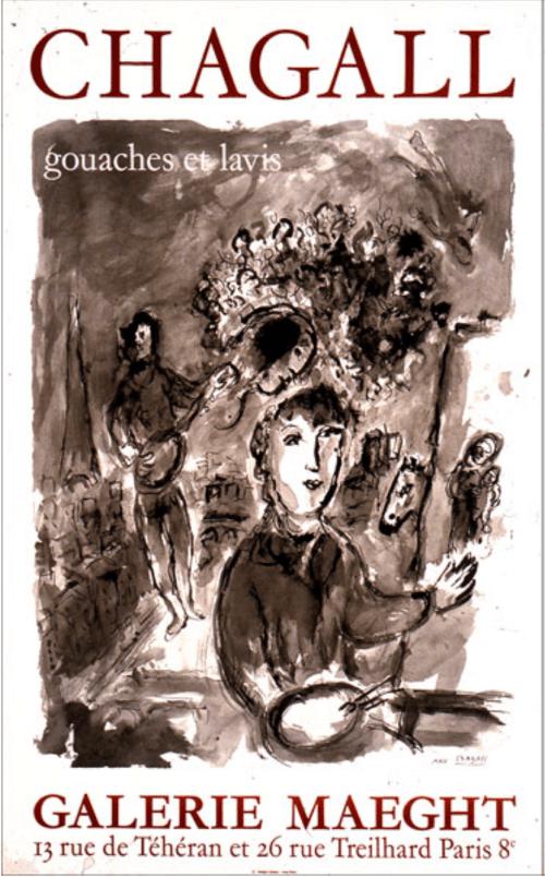 Marc Chagall gouaches et lavis 1977